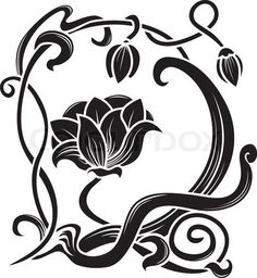 Art Nouveau. Change Flower. Love.