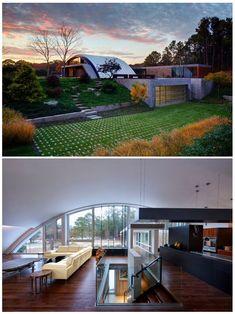Arc House in East Hampton,  New York.