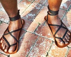 Minimalist Sandals: BAREFOOT BISON SANDALS: designed for people who walk outside completely barefoot most of the time: • and need a lightweight backup shoe be legally shod to enter a business. • and/or need occasional protection. • They are made of buffalo leather and feel nearly identical to being barefoot. This style feels softest on the skin. They do best on SOFT SURFACES: grass, carpet, pine needles. They can be rolled up small or packed nearly flat. They will form to your individual...