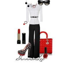 Black & White, created by shannonlee98 on Polyvore