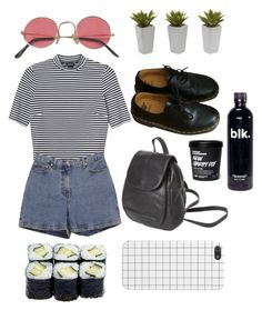 """""""Untitled #21"""" by bl-u ❤ liked on Polyvore featuring Monki, Ann Taylor and Dr. Martens"""