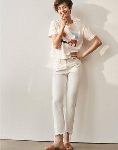 da858c4c Button Front Skirt, Summer Jeans, Minimalist Chic, Sandals Outfit,  Effortless Chic,