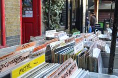 Vinyl store - Camden Market - London - UK