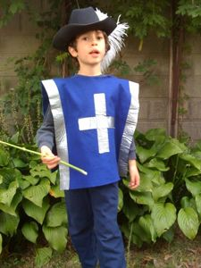 Three Musketeer Costume  sc 1 st  Pinterest & DIY costume ideas. I could do this smock and hat and add capes and ...
