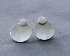 Simple Techniques of Making DIY Stud Earrings Sterling Silver Earrings Studs, Silver Jewelry, Stud Earrings, Cheap Silver Rings, Polymer Clay Jewelry, Earrings Handmade, Diy Jewelry, Concave, Indiana