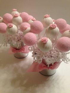 Ideas For Bridal Shower Cake Pops Cakepops Cake Pop Bouquet, Cake Pops Roses, Flower Cake Pops, Cookie Bouquet, Wedding Cookies, Wedding Cupcakes, Wedding Cake, Pink Cake Pops, Baby Cake Pops