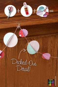 Project 102: Tipsy Circle Garland = Scotch™ Precision Scissors + Scotch® Clear Glue + Paper + String #scotchcrafts