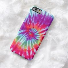 Pink Spiral Tie-Dye iPhone 6 case