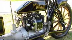 Classic 1915 Militaire Motorcycle Roars Down The Streets!