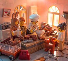 Lego minifigure kitchen scene - New Ideas Lego Minecraft, Minifigura Lego, Lego Craft, Lego Disney, Lego Poster, Lego Hacks, Lego Furniture, Lego Creative, Lego Sculptures