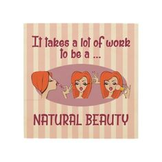 "Natural Beauty Redhead 8""x8"" Wood Wall Art"