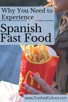 If fast food is your comfort food, you should know a thing or two about Spanish fast food joints. Spanish fast food is absolutely an experience! via /crashedculture/