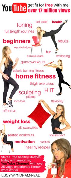 Fall in love with fitness and get fit and healthy at home with my free workout videos, with over 700 videos I have something for everyone and as a qualified trainer with over 25 years experience I know how to get results. So cancel your gym membership and start this one for free from home. Lucy xx
