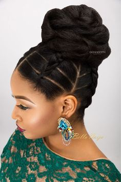 This would be the perfect hairstyle for your next dance! (Credit: African American Hairstyles)