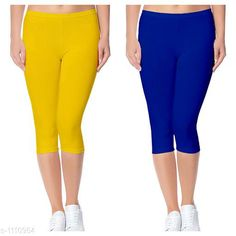 Capris Trendy Cotton Lycra Capris Leggings Fabric: Cotton Lycra Size: Up To 28 in to 36 in( Free Size) Length: Up To 34 in  Type: Stitched Description: It Has 2 Piece Of Women's Capris Pattern: Solid Country of Origin: India Sizes Available: Free Size, 24, 26, 28, 30, 32 *Proof of Safe Delivery! Click to know on Safety Standards of Delivery Partners- https://ltl.sh/y_nZrAV3  Catalog Rating: ★4 (2888)  Catalog Name: Alice Trendy Cotton Lycra Capris Combo Leggings CatalogID_136944 C79-SC1037 Code: 442-1110954-