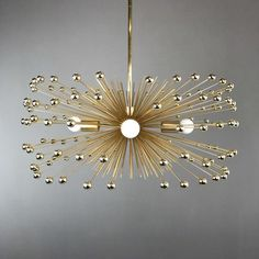 The beaded urchin chandelier is available in four finishes each adorned with a matching bead finish to create a monochromatic explosion of cool. This fixture is