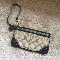 Coach designer wrestler monogram Barely used, great condition Coach Bags Clutches & Wristlets