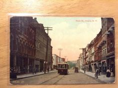 State-St-Ithaca-NY-Vintage-Postcard-Street-Scene-Trolley-1912