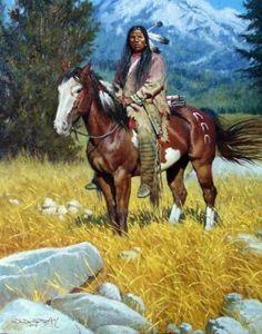 Solitary Journey by Antonio di Donato kK Native American Horses, Native American Proverb, Native American Warrior, Native American Paintings, Native American Pictures, Native American Symbols, Native American Artists, Native American History, American Indians
