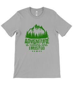Adventure Is Calling and I Must Go - T-shirt - Athletic Heather / Medium