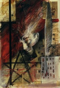 """Dave McKean    """"Hellblazer"""" Artwork... I wonder if half of my so called friends knows that Constantine is actually blond.    But that doen't matter, in the end, the only thing that matters is PIZZA!"""