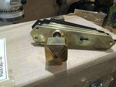 Art Deco 1930 solid brass door handles door knobs