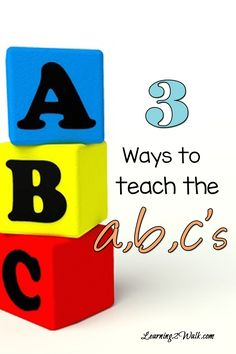 Working on those preschool letters? Here are 3ways to teach the ABCs