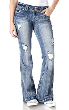 fcf2d79597a WallFlower Juniors Luscious Curvy Super Flare Jeans in Farrah Size9 **  Details can be found by clicking on the image.