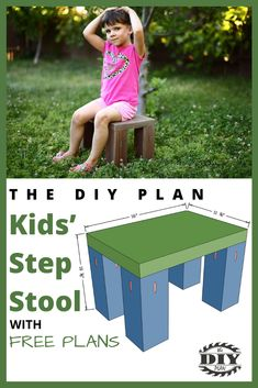 I build this Step Stool for Kids using scrap wood that was left over from other projects. From cutting the pieces and attaching everything . Diy Furniture Plans, Diy Furniture Projects, Diy Home Decor Projects, Outdoor Projects, Diy Wall Art, Diy Wall Decor, Creative Wall Decor, Diy Woodworking, Stores