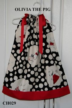 Olivia The Pig Boutique Pillowcase dress by GiraffesJellybeans, $28.99