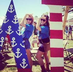 Delta Gamma Merica stars and anchors patrotic nautical letters
