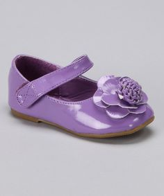 Take a look at this Anna Shoes Purple Flower Mary Jane on zulily today!