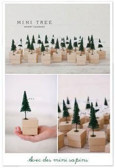 Mini sapins de Noël - mini trees DIY round-up