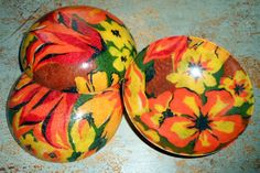 Vintage Bowls Orange Retro Plastic Set of Three by TheBackShak, $11.00