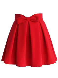 Red bow skirt