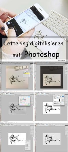 Tutorial: Digitize lettering with Snapseed or Photoshop Tutorial: Letter … Photoshop Tutorial, Photoshop Fonts, Ideas Scrapbook, Scrapbook Designs, Photoshop For Photographers, Photoshop Photography, Photography Backdrops, Hand Lettering Tutorial, Diy Papier