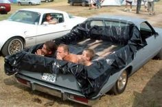 You know you're a redneck when you turn your El Camino into a swimming pool. (funny redneck)