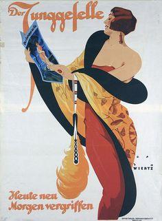 By Jupp Wiertz (1888-1939), 1927,  Der Junggeselle. (G)