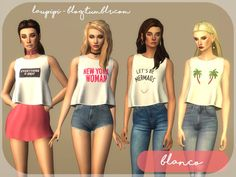 19 Best Sims 4 Female T Shirts Images Sims 4 Clothing Sims Cc Games