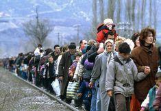 Kosovar refugees fleeing their homeland. Blace area, The former Yugoslav Republic of Macedonia, 01/03/1999. UN Photo/R LeMoyne.
