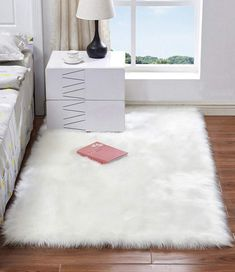 Rectangle Animal Free Soft Faux Sheepskin Fur Area Rugs for Bedroom Floor Shaggy Silky Plush Carpet White Faux Fur Rug Bedside Rugs Material - Soft Faux Sheepskin Color - Camel, Ivory, Pink, Purple and White Size - Approx. Fur Carpet, Carpet Mat, Plush Carpet, White Carpet, Patterned Carpet, Rugs On Carpet, Carpet Runner, Carpets, Stair Carpet
