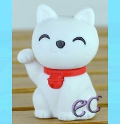 #erasercrazy #Iwako LUCKY CAT White Eraser