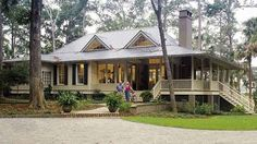 Southern Living House plan 1375, also known as Tideland Haven... it's a beauty isn't it? This is an exclusive design by Historical Concepts for Southern Living. We know someone who built this house...