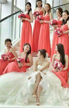 Wedding Accessories Bridesmaids Corsages Cuffs FOUR Coral Wedding Party Bridesmaid Gift Flower Girl Coral Summer Wedding Fairytale Flower