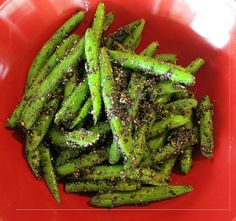 Green Beans with Black Sesame Seeds