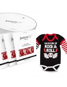 JAMONIFYER BABY BODY by Jamonify.com  THE WONDERFUL DIFFERENCE THAT WILL CHANGE YOUR LIFE   100% natural preservative-free Pure Iberico Bellota Ham, the most delicious snack in the world for the new parents.  #jamoniberico #jamon #cadeau #jambon