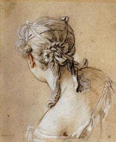 François Boucher, Femme vue de dos.  Image : fineartprintsondemand.com