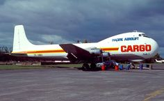 ZK-NWA. Pacific Aerolift Cargo - in the full livery at Nelson Airport, March 1984.  (R. N. Smith Collection Copyright Image 1125-273.)