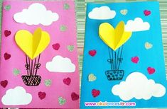 Crafts For Kids, Arts And Crafts, Paper Crafts, Kindergarten Report Cards, Envelopes, Holiday Homework, Balloon Crafts, Preschool Education, Class Decoration