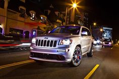 Jeep Grand Cherokee SRT Limited Edition white in the city